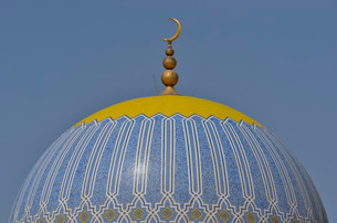Dome of the Great Mosque of Taqah, Dhofar Region, Orientの写真素材 [FYI02338394]