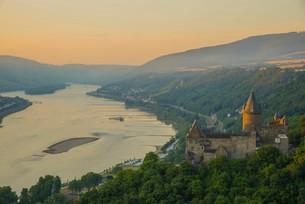 Burg Stahleck Castle, youth hostel, UNESCO World Heritageの写真素材 [FYI02338541]