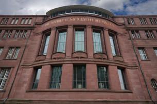 Art Nouveau facade of the Albert Ludwig University ofの写真素材 [FYI02338875]