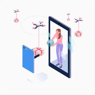 Shopping through virtual realityのイラスト素材 [FYI02338927]