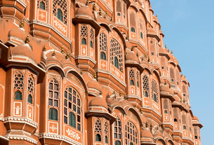 Hawa Mahal, Palace of Winds, Jaipur, Rajasthan, India, Asiaの写真素材 [FYI02338981]