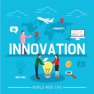INNOVATION in global businessのイラスト素材 [FYI02338986]