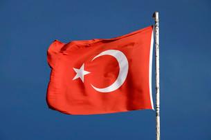 Flag of the Republic of Turkeyの写真素材 [FYI02339009]