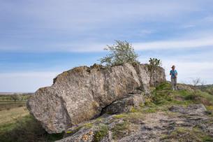 Holzlstein rock, Oggau am Neusiedler See, Northernの写真素材 [FYI02339046]