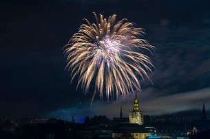 Fireworks, Seenachtsfest festival 2014 with Constanceの写真素材 [FYI02339077]
