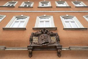 Plaque for Friedrich Ruckert, German poet, at hisの写真素材 [FYI02339101]