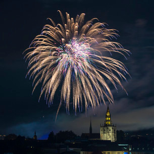 Fireworks, Seenachtsfest festival 2014 with Constanceの写真素材 [FYI02339128]