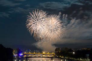 Fireworks, Seenachtsfest festival 2014 from the Seerhein onの写真素材 [FYI02339159]