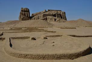 Deffufa, 19-meter-high brick building, ancient city ofの写真素材 [FYI02339238]