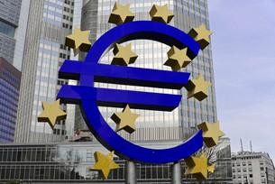 EURO sign at the ECB, European Central Bank, Frankfurt amの写真素材 [FYI02339323]