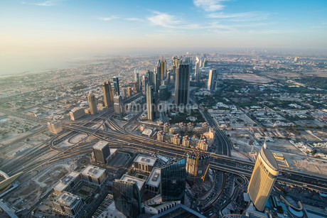 View from Burj Khalifa, Dubai, Emirate of Dubai, Unitedの写真素材 [FYI02339335]