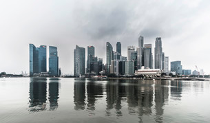 Downtown, financial district, skyscrapers, Singapore, Asiaの写真素材 [FYI02339369]