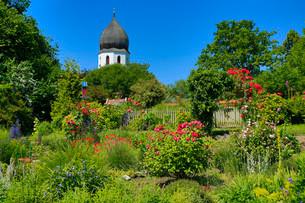 Monastery garden, Fraueninsel, Chiemsee, Upper Bavariaの写真素材 [FYI02339457]