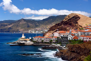 Holiday resort Quinta do Lorde, peninsula Ponta de Saoの写真素材 [FYI02339549]