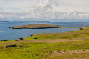 Coastline, Yell, Shetland Islands, Scotland, Unitedの写真素材 [FYI02339570]
