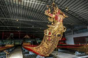 Dragon boat, royal barge of the Thai King, Royal Bargesの写真素材 [FYI02339616]