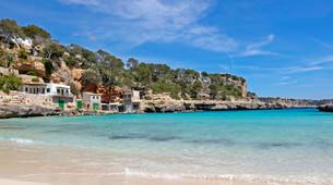 Cala Llombards, Santanyi, Mallorca, Balearic Islandsの写真素材 [FYI02339634]