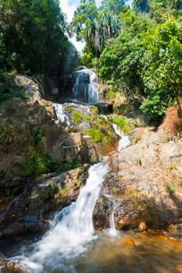 Na Muang waterfall, Koh Samui, Thailand, Asiaの写真素材 [FYI02339698]
