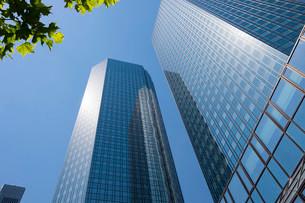 Deutsche Bank Twin Towers, Frankfurt am Main, Hesseの写真素材 [FYI02339750]