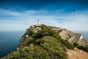 Lighthouse, Cap Formentor, Majorca, Balearic Islandsの写真素材 [FYI02339826]