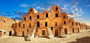 Ksar Ouled Soltane, fortified granary near Tataouineの写真素材 [FYI02339852]