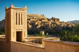 Kasbah Ait Benhaddou, UNESCO World Heritage Site, Aitの写真素材 [FYI02339867]