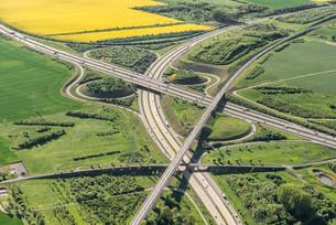 German federal highways 4 and 71, Erfurter Kreuzの写真素材 [FYI02339883]