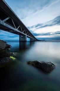 Oresund Bridge, oresundsbroen, world's longestの写真素材 [FYI02339896]