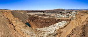 Auchas mine, disused diamond mine, Orange River miningの写真素材 [FYI02340010]