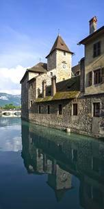 Palais de l'Isle, Annecy, Rhone-Alpes, France, Europeの写真素材 [FYI02340020]