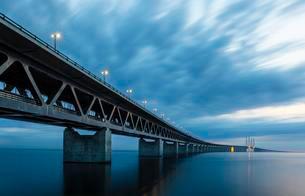 Oresund Bridge, oresundsbroen, world's longestの写真素材 [FYI02340032]