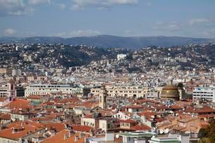 View over the historic centre of Nice, Cote d'Azurの写真素材 [FYI02340064]
