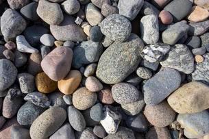 Various pebble stones on Baltic Sea beach, Ahrenshoopの写真素材 [FYI02340138]