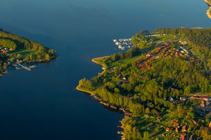 Jabelscher See lake, Jabel, Mecklenburg Lake Districtの写真素材 [FYI02340146]