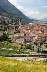 Historic centre of Chur, Canton of Grisons, Switzerlandの写真素材 [FYI02340161]