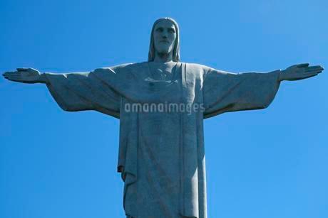 Statue of Christ Cristo Redentor, Corcovado, Rio deの写真素材 [FYI02340232]