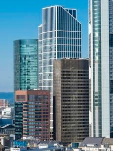 Financial District with TaunusTurm, Skyper, Frankfurt amの写真素材 [FYI02340237]