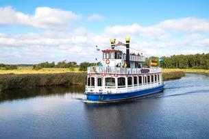 Baltic Star paddle steamer, Prerow current or Prerowstromの写真素材 [FYI02340261]
