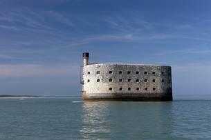 Fort Boyard, historic fortress, former prison, Ile-d'Aixの写真素材 [FYI02340265]