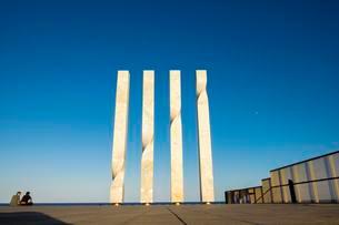 Sculpture Les quatre barres de la senyera catalana byの写真素材 [FYI02340281]