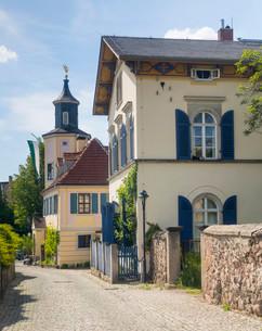 Meinhold tower house, Radebeul, Saxony, Germany, Europeの写真素材 [FYI02340300]