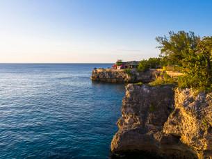 Coast of Negril, Westmoreland region, Jamaica, Centralの写真素材 [FYI02340301]