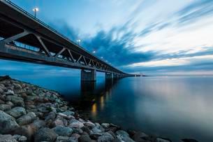 Oresund Bridge, oresundsbroen, world's longestの写真素材 [FYI02340321]
