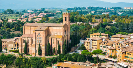 Church of San Domenico, Siena, Tuscany, Italy, Europeの写真素材 [FYI02340329]