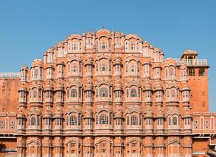 Hawa Mahal, Palace of Winds, Jaipur, Rajasthan, India, Asiaの写真素材 [FYI02340331]