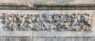 Relief image, Gaul battle of the Romans, detail at theの写真素材 [FYI02340343]
