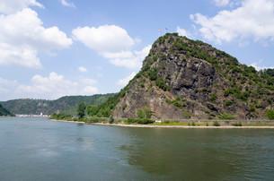 Lorelei rock, slate rock, UNESCO World Heritage Upperの写真素材 [FYI02340344]