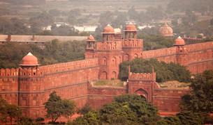 Red Fort, Delhi, India, Asiaの写真素材 [FYI02340414]