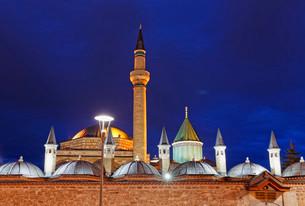 Mevlana monastery with Rumi's Mausoleum, Mevlana Museumの写真素材 [FYI02340419]