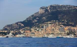 Super yachts in Monaco during the Formula 1 Grand Prixの写真素材 [FYI02340422]